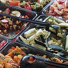Accomp. salades légumes (prix/pers)