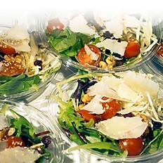 4 mini sandwiches + 1 side salad
