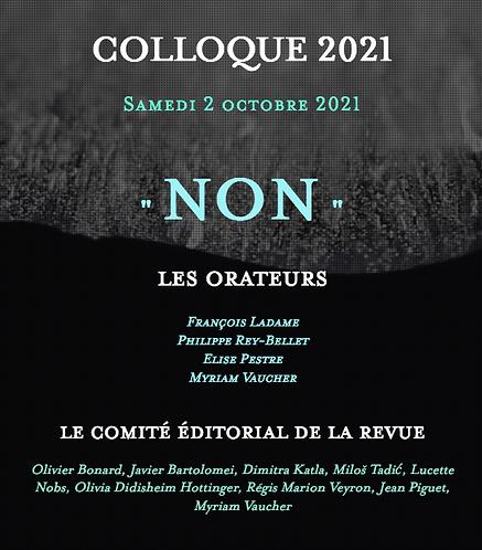 Inscription colloque 2021