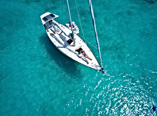 Barca a vela Top View