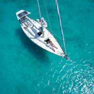 Segelboot Ansicht von oben