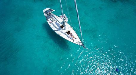Barca a vela Top View