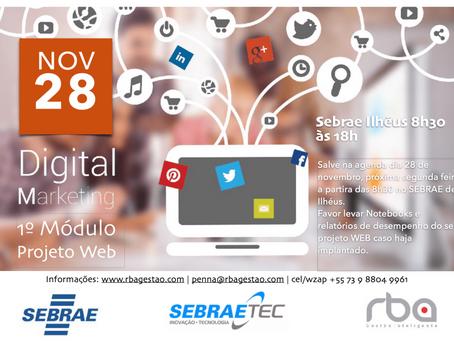 Rba GI ministra curso de Digital Marketing - 1° Módulo Projeto Web