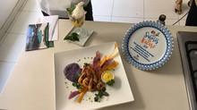 Chefe de cozinha da Terra Boa grava com Elíbia Portela