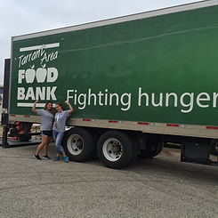 Tarrant Area Food Bank Truck with volunteers