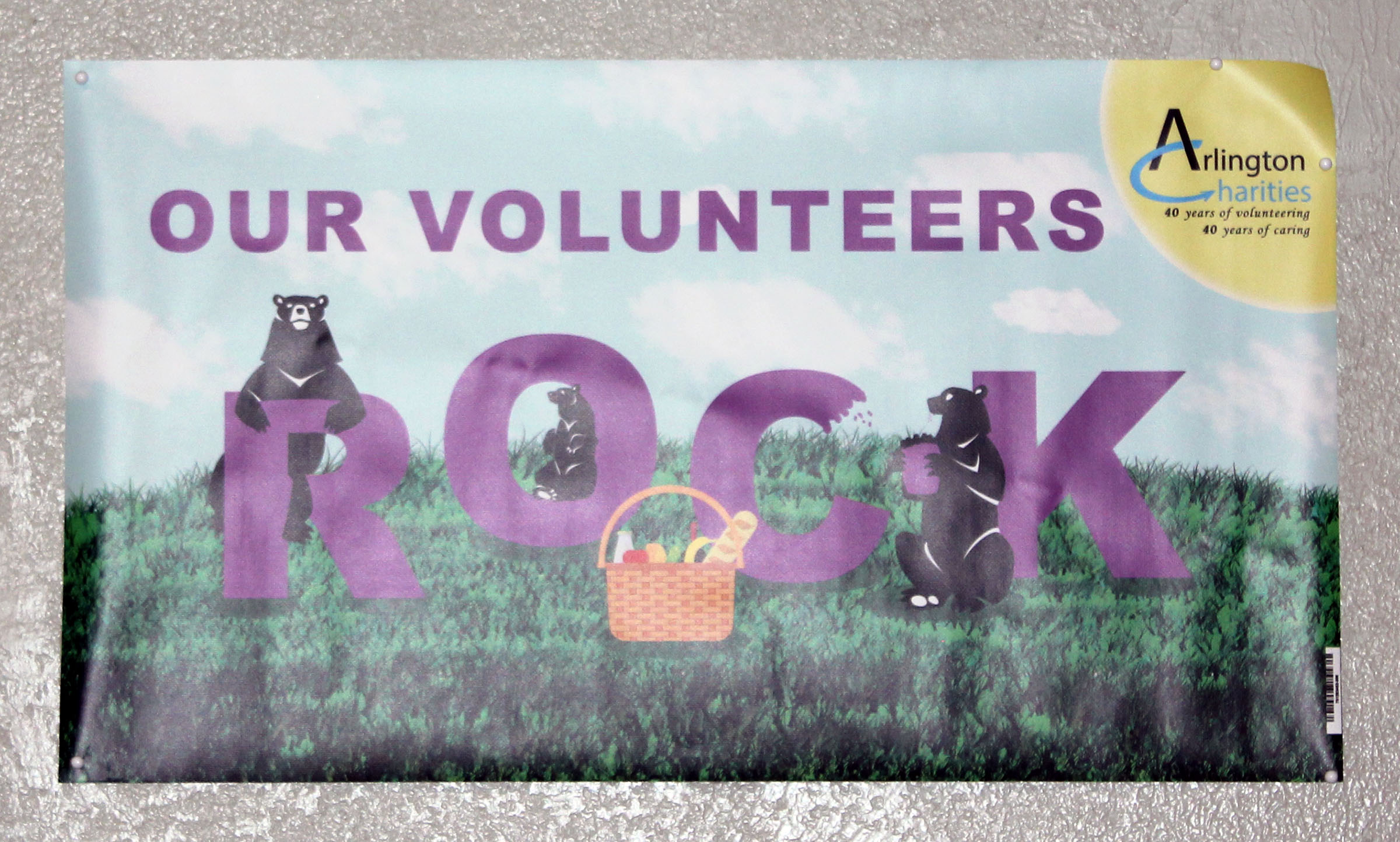 our volunteers rock close up