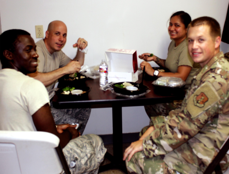 national guard eating