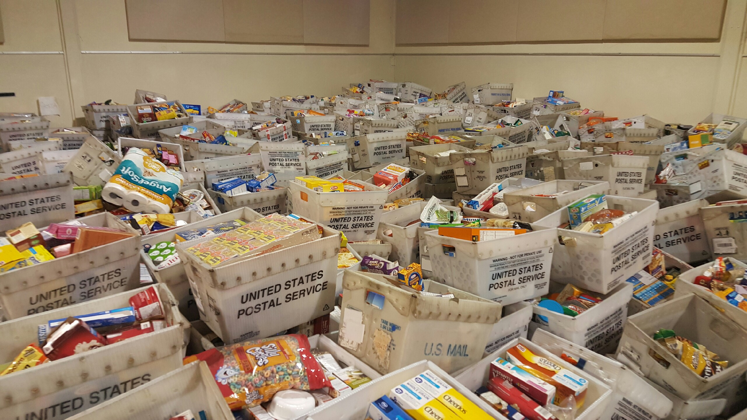 Boxes of donations