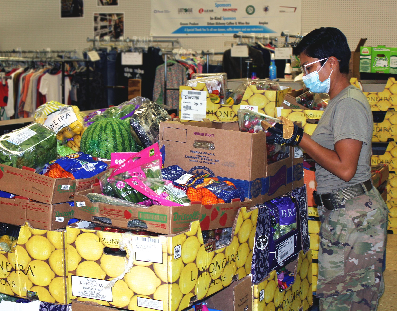 F Guard sorting veggies