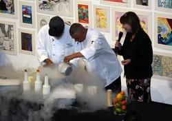 pouring cream