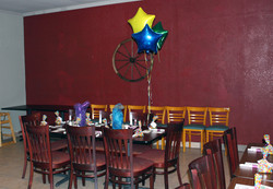 table with bloons