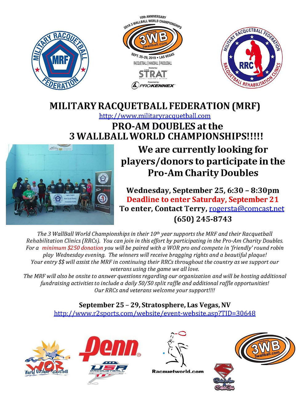 MRF Pro-Am Doubles at 3WallBall World Champs