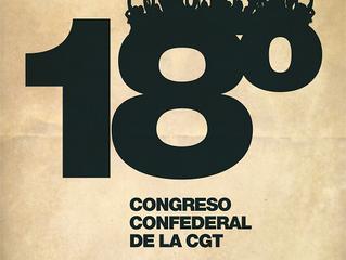 CGT celebra el XVIII Congreso Confederal en Valencia los días 15, 16, 17 y 18 de Febrero de 2018
