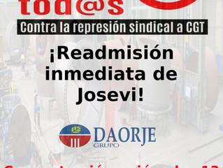 No a la represión sindical en el Grupo Daorje