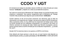Palo para los firmantes del ERE: CC.OO y UGT (ArcelorMittal)