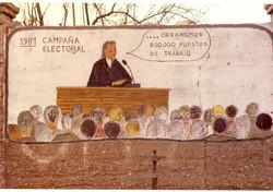 Pintadas en la antigua pared Noguera