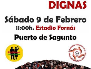 9F Manifestación #PensionesDignas Puerto de Sagunto
