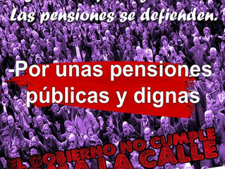 #PensionesDignas Manifestación 2F Valencia