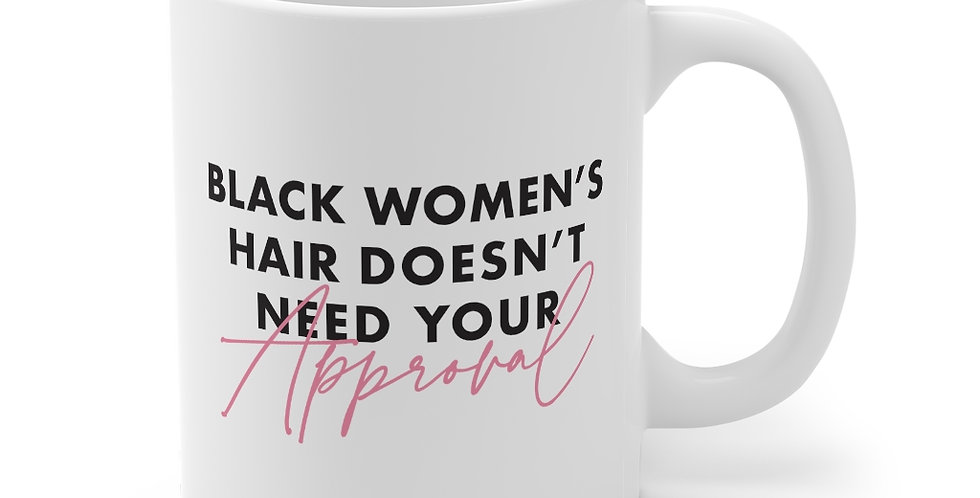 Black Women's Hair Mug