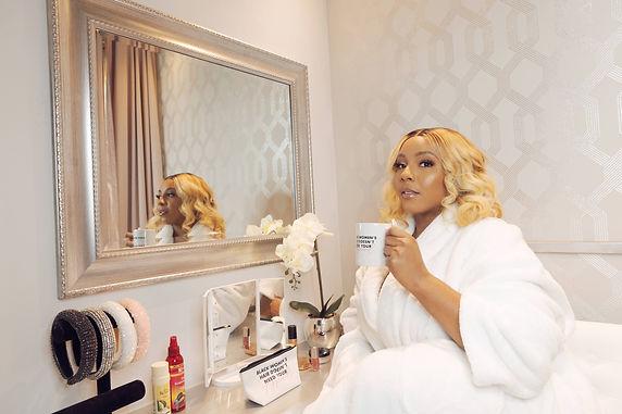 Black Women's Hair Mug