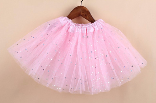 a49f08ab72 Gorgeous light pink Tulle skirt with foiled glitter stars. Suitable for  ages 2- 8. Raw edge hemline which can be shortened with scissors to fit  most 1 year ...