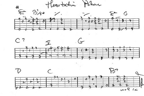Hesitation Blues Guitar Tab