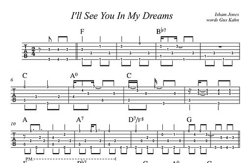 I'll See You In My Dreams Guitar Tab