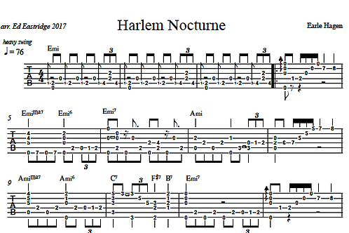 Harlem Nocturne Guitar Tab