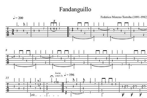 Fandanguillo Guitar Tab