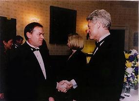 Ed Eastridge meets Bill Clinton at the White House