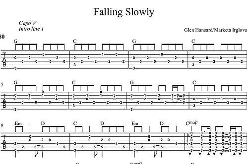 Falling Slowly Guitar Tab