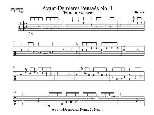 Avant-Dernieres #1 Guitar Tab