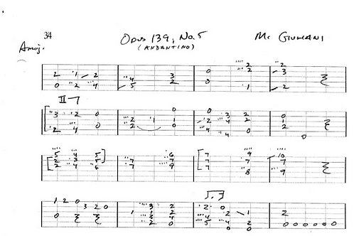 Giuliani Opus 139 Guitar Tab