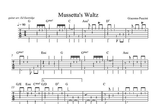 Mussetta's Waltz Guitar Tab