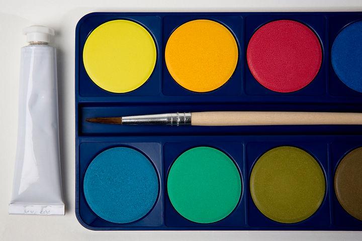 tintas de cor Água