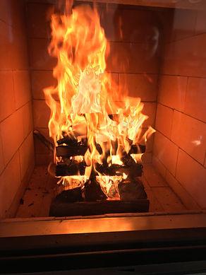 メイスンリーヒーターの火入れ