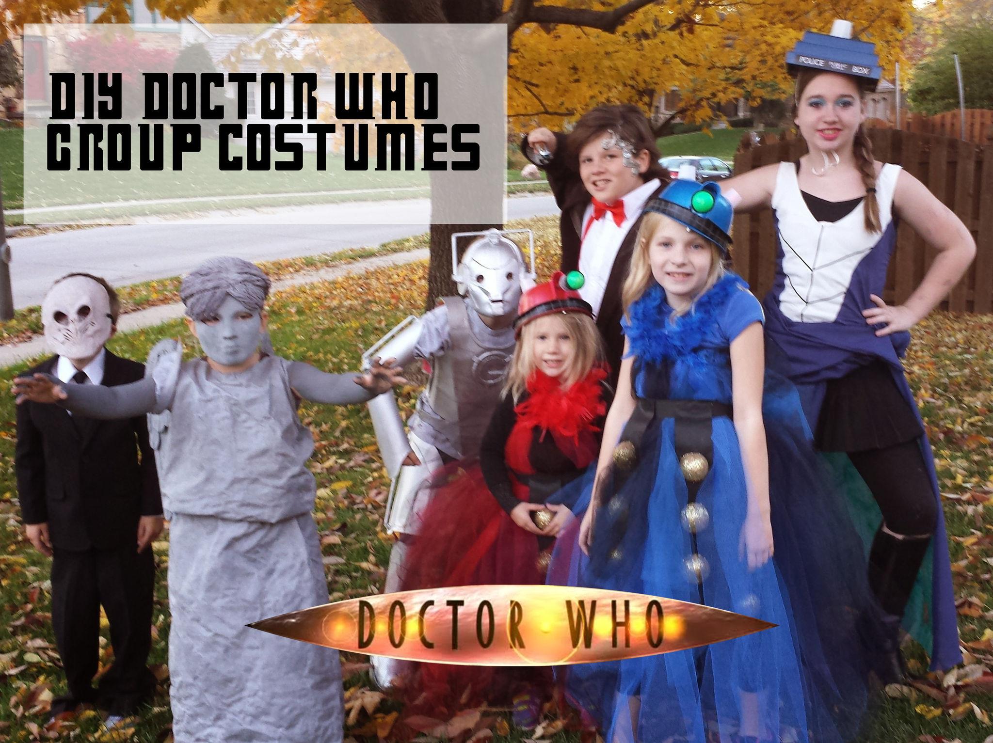 diy doctor who costumes - silence cyberman dalek weeping angel