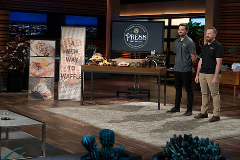 Press Waffle Co. As Seen on Shark Tank Founders Bryan Lewis and Caleb Lewis