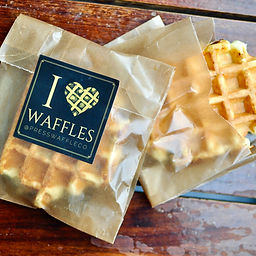 Grab one of our classic Liége style waffles for home! Pop it in the toaster for the perfect breakfast on the go.