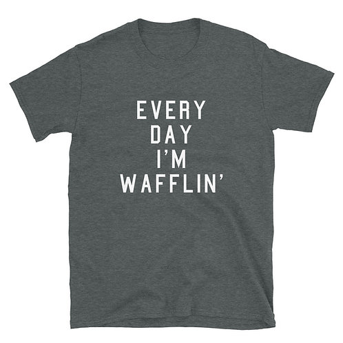 Every Day I'm Wafflin' Tee - Dark Grey
