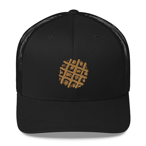 Embroidered Waffle Trucker Hat
