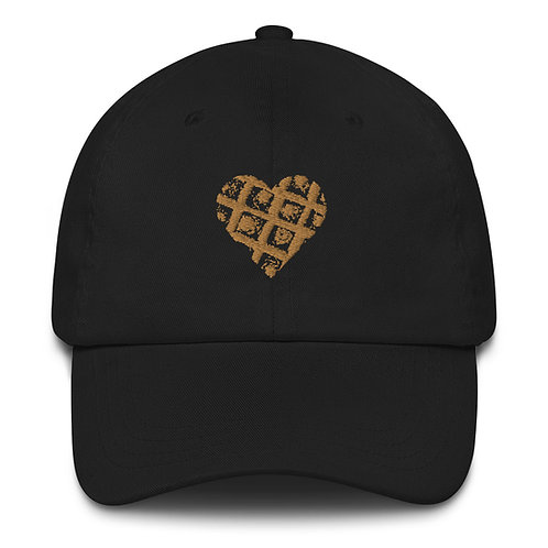 Embroidered Waffle Heart Hat