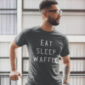 Press Waffle Co. Merchandise Store T-Shirt Eat Sleep Waffle