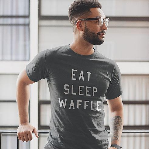 Press Waffle Co. Merchandise Store T-Shirt Eat Sleep Waffle