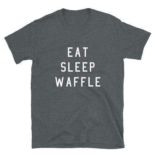 Eat. Sleep. Waffle. Tee - Dark Grey