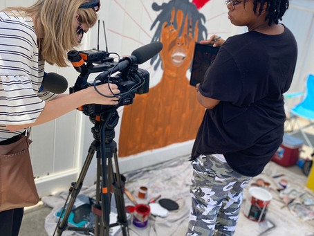 Art of the Day Sac & OPNA Mural Project: Imagine A New World