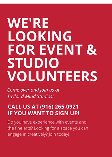 Were Looking for event  studio Volunteer