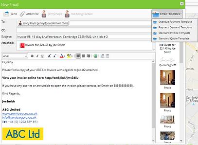 ServiceGuru ServiceM8 Email System