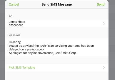 ServiceGuru ServiceM8 Customer SMS