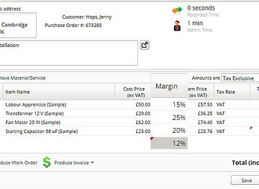 ServiceGuru ServiceM8 Margin Pricing